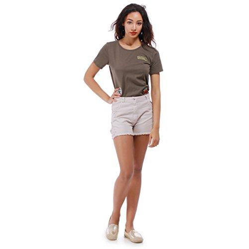 La Modeuse - T-shirtmanches courtes col rond Kaki