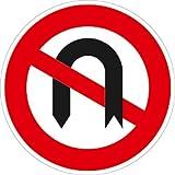 Verkehrszeichen VZ272, Verbot des Wendens, Alu, RA1, Ø 42cm Verkehrsschild