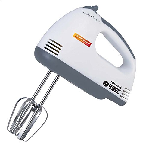 Orbit Abs Plastic Body 150 Watt 2 In 1 Hand Mixer,White