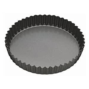 Master Class Non-Stick Fluted Flan Tin / Quiche Pan with Loose Base, 25 cm (10 inch)