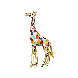 AILUOR Damen Giraffe Brosche, Emaille Giraffe Brosche S Nettes Tier Spotted Brosche Schmuck
