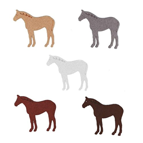 Zita's Creative Bastelfilz Figuren Set - Pferd 1. Filz, Textilfilz, Streudeko -
