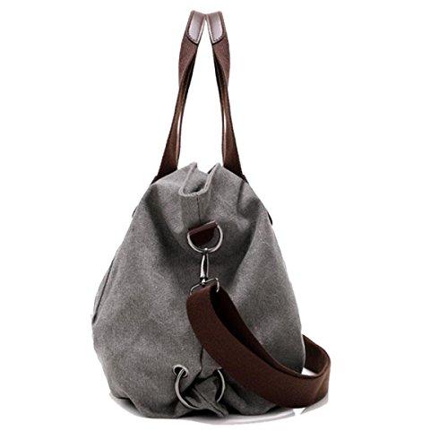 Mode Freizeit Kunst Frau Schulter Kurierbeutel Laptop Große Kapazität Einfache Große Taschen Stofftaschen Personalisierte Multifunktional Handtasche Kragen Gray
