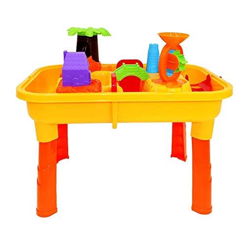 Rclhh Sand Wasser Tisch Spielzeug Mit Zubehör für Kleinkinder, Kinder Outdoor Garten Spiel mit Schaufel Gießkanne Sommer Strand Spielzeug (Outdoor-wasser-spiel-tisch)