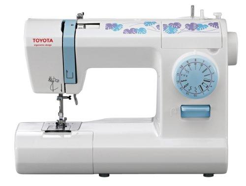 Toyota ECO15CB - Máquina de coser, 65 W, 15 programas, color blanco y azul