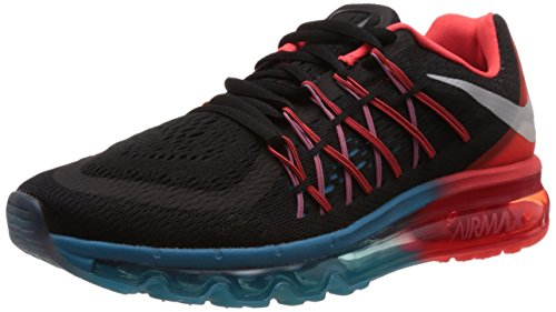 Nike Air Max 2015, Herren Laufschuhe Training Black/White/Bright Crimson/Blue Lagoon