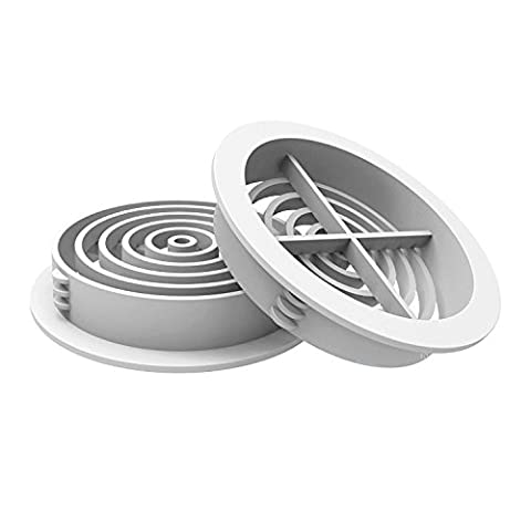 10 x 70mm White Plastic Round Soffit Air Vents /