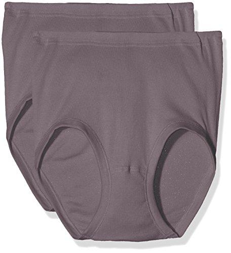 Taille Slip (Schiesser Damen Taillenslips Starlet Taillenslip (2 Pack), 2, Braun (Nougat 309), 50)