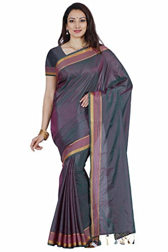 Mimosa By Kupinda Art Silk Saree Kanjivaram Stlye Color:Chocalate (3350-MLI-01-GR-RNI)  available at amazon for Rs.599
