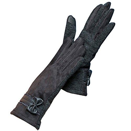 OEM Handy-Touch-Screen-Handschuh groß Schmetterlings-Knoten-Grau - Oem Handy