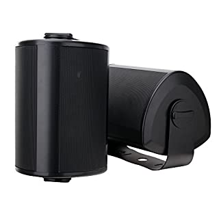 Paar Pronomic OLS-10 BK DJ PA Outdoor-Lautsprecher für Garten, Terrasse, Restaurant (2 x 100 Watt, Schutzart IP56, 8 Ohm, 5,25