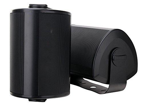 """Paar Pronomic OLS-10 BK DJ PA Outdoor-Lautsprecher für Garten, Terrasse, Restaurant (2X 120 Watt, Schutzart IP56, 8 Ohm, 5,25"""" Woofer, Planar Bass Radiator) schwarz"""
