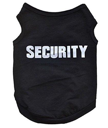 Zoofachgeschäft Kleidung Kostüm T-Shirt für Hunde Security schwarz und weiß Größe S