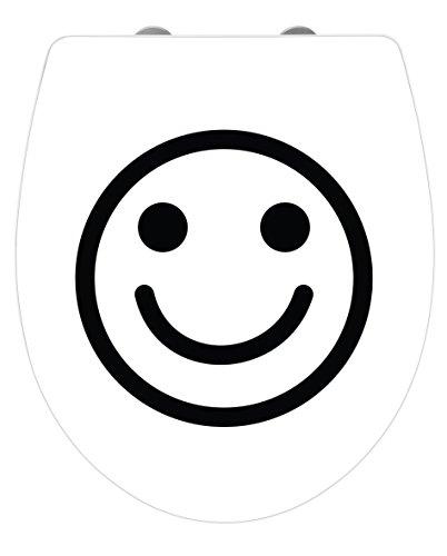 Wenko 21755100 WC-Sitz Hochglanz Acryl Lacher - Absenkautomatik, Fix-Clip Hygiene Befestigung, Kunststoff, Mehrfarbig