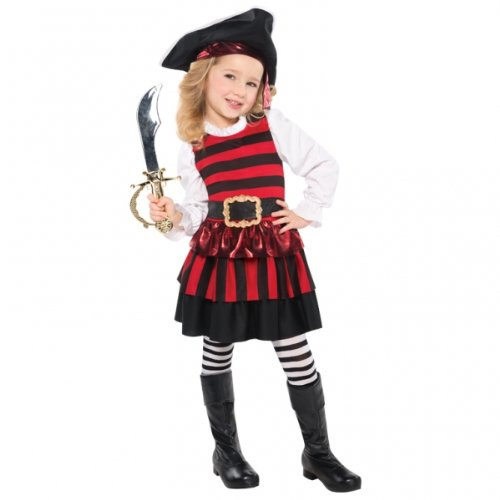 Christy's Toddler Girls Little Lass Pirate Costume (4-6 Years)