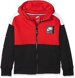 Nike Jungen Air Kapuzenpullover, University Redblack, S