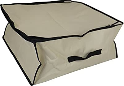 Neusu Heavy Duty Twin Pack Bedding Or Clothing Storage Bags - 2 x 40 Litre Capacity (45cm x 45cm x 20cm) - Strong 600D Polyester Material With 2x Web Reinforced Handles - Fold Flat - cheap UK light store.