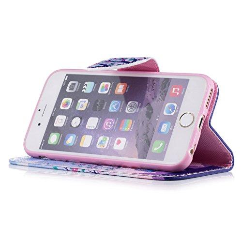 Trumpshop Smartphone Case Coque Housse Etui de Protection pour Apple iPhone 6 / iPhone 6s (4.7-Pouce) + Don't Touch My Phone (Ourson) + Mode Portefeuille PU Cuir Avec Fonction Support Famille de hibou