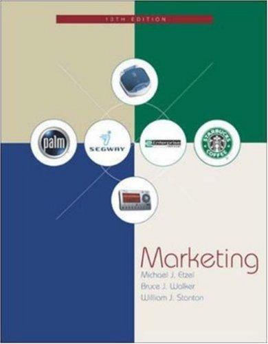 Marketing W/Student CD-ROM and PowerWeb by Michael J Etzel (2003-05-29)