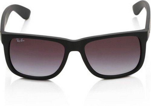 Ray-Ban Unisex - Erwachsene Sonnenbrille Justin, Gr. Large (Herstellergröße: 55), Black (6One Size/8G Black)