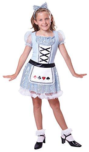 2Karte Mädchen Kleid (klein), Alter: ca. 3-5Jahren, Karte Mädchen (S) (Queen Of Hearts Halloween-kostüme Für Mädchen)