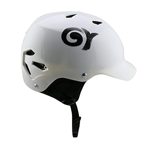 GY ABS stromlinienförmiges Gehäuse Wassersporthelm Kajakfahren Kitesurfing Wasserski Helm (white, M)