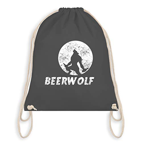 Statement Shirts - Beerwolf - Unisize - Dunkelgrau - WM110 - Turnbeutel & Gym Bag