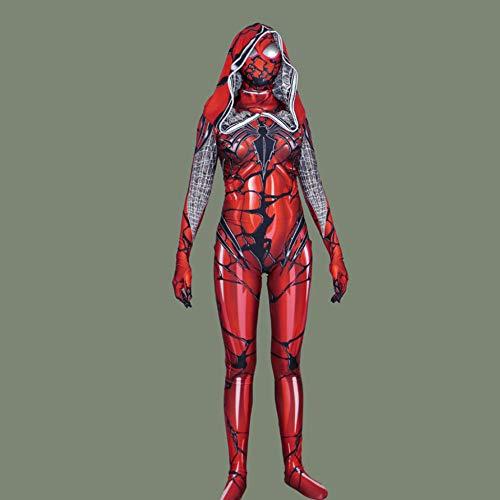 DSFGHE Lycra Damengift Roter Mantel Big Spider-Man Kostüm Cosplay Strumpfhosen Maskerade ()