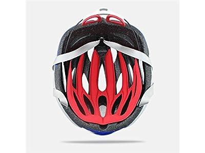 Blueqier Sports Men Women Porous Ventilation Mountain Bicycle Helmet Adjustable One-Piece Riding Helmet(Red+White) Cycle Helmets by blueqier