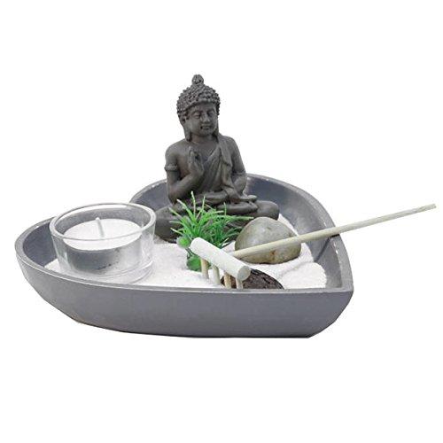 Jardin Zen Japonais Bouddha plateau coeur plateau gris