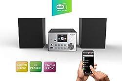 "Xoro HMT 500 - Micro System Internet-/ DAB+/FM-Radio, CD Player, Bluetooth, Mediaplayer, 2.4"" Farbdisplay, RC ,2x10W"