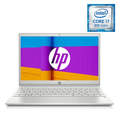 HP Pavilion 13-an0029nf PC Ultraportable 13,3'' IPS FHD Argent (Intel Core i7-8565U, 8 Go de RAM, SSD 128 Go, AZERTY, Windows 10) PC Nouvelle Génération