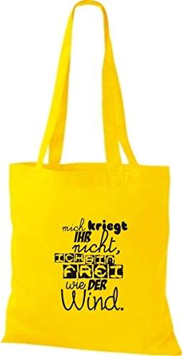 süßer wie bin Gelb Stoffbeutell ihr frei ich nicht Spruch viele Shirtstown der kriegt Farben mich Wind gqUZCyw5