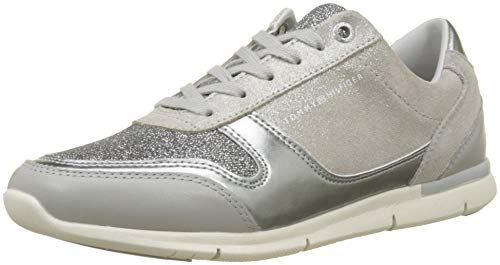 Tommy Hilfiger Damen Sparkle Light Sneaker, Grau (Diamond Grey 001), 39 EU Diamond Sneaker