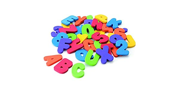 36pcs bunte Alphabet /& 0 ~ 9 Zahlen schwimmende Schaum Kinder Bad Spielzeug