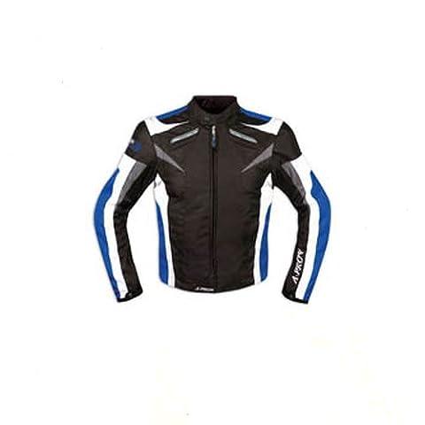 Moto CE Protections Textile Blouson Manchon Démontable Gilet Termique bleu