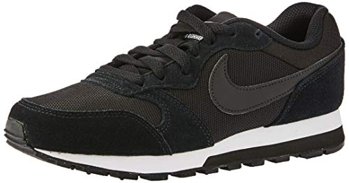 Nike Md Runner 2 Damen Sneakers, Black (Black/Black-White), 43 EU (Nike-internationalist-turnschuhe)