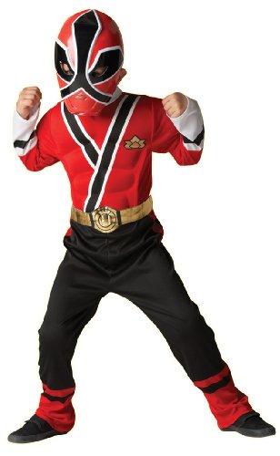 Rotes Power Rangers Samurai-Kostüm - 3-4 (Kostüme Red Ranger Deluxe)