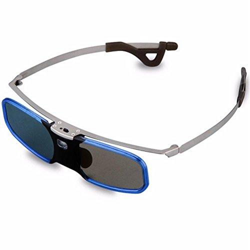 HUYAN1 DLP Link 3D Brillen 3D Active Shutter Wiederaufladbare Brillen (kompatibel mit Benq, Optoma, Acer, Vivitek, Dell Etc) & Alle DLP HD 3D Fernseher Bei 96 Hz, 120 Hz und 144 Hz