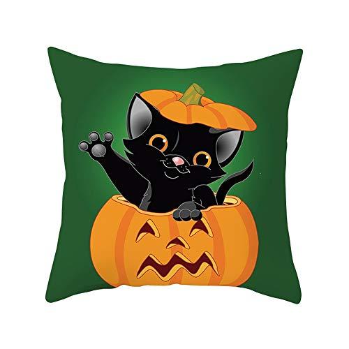 Halloween Dekoration HUYURI Kürbis Schwarze Katze Auto Bett Sofa Kissenbezug Kissenbezug (Synthetische Kissen Bett)