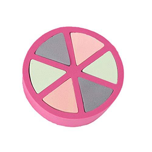 Autocollant à ongles, Kolylong の B07PBBMJYG;Lorsoul 6pcs Triangular Pétale Powder Puff Ronde Coussin cosmétique éponge Maquillage Tapis Mousse éponge Couleur aléatoire\