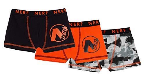 Nerf - Calzoncillos Tipo bóxer para niños (3 Unidades), diseño de Camuflaje Multicolor 11-12 Años