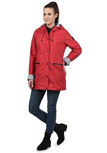 DESIRES Becky Damen Regenjacke Regenmantel Übergangsjacke Mantel mit Kapuze