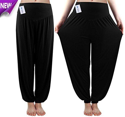 Fitglam-Soft-Yoga-Harem-Pilates-Pants-Hippie-Bloomer-Pant-Womens-Lounge-Leggings-Long-Baggy-Trousers