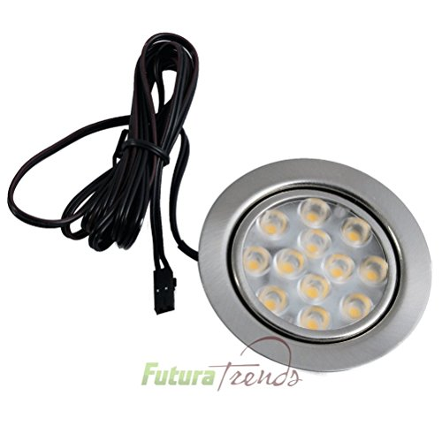 LED Einbauleuchte Möbelleuchte Einbaustrahler 3W HIGH LED SMD WARMWEISS Solo einzeln