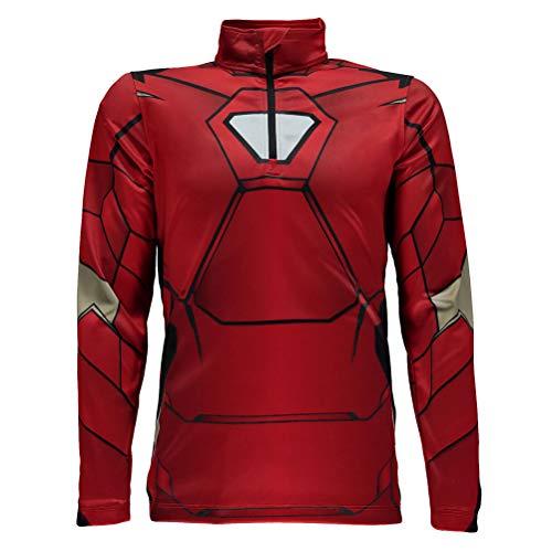 Spyder Active Sports Boy 's Marvel Limitless Hoodie, Jungen, Red/Ironman, Large (Man Iron Boys Hoodie)