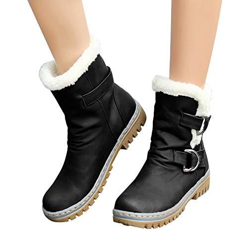 Preisvergleich Produktbild TianWlio Stiefel Frauen Winter Warm Schuhe Stiefeletten Boots Halten Schlüpfen Schneestiefel Weihnachten Winter Klassiker Schnalle Warme Schuhe Pelz Martin Schneeschuhe Kurzer Stiefelette