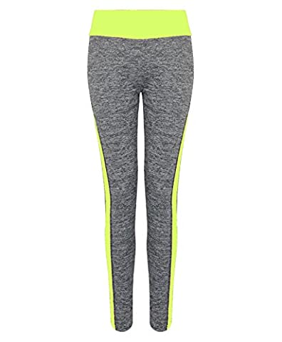 0213 Neon Yellow S/M Ladies Sport Leggings & FREE GIFT Lotmart promotional pen with every parcel