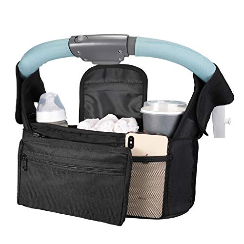 Boaraino Bolso silla paseo bebé,Bolsos Carro Bebé,Bolsa organizadora para cochecito con Gran Capacidad...