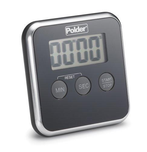 Polder Digitales Ofenthermometer, TMR, Digitaler Küchentimer 606-95 Polder Digitales Ofenthermometer, Schwarz